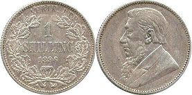 old coin South Africa 1 shilling 1896