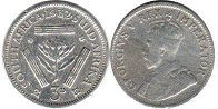 old coin South Africa 3 pence 1932
