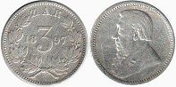 old coin South Africa South Africa 3 pence 1897