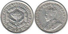 old coin South Africa 6 pence 1933