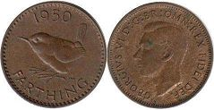 coin UK coin farthing 1950
