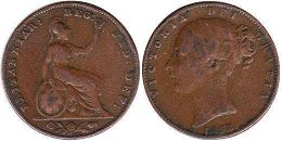 coin UK old coin farthing 1854