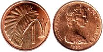 coin Cook Islands 1 cent 1983
