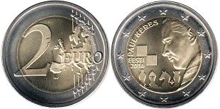 coin Estonia 2 euro 2016