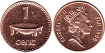 coin Fiji 1 cent 1986