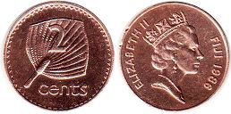 coin Fiji 2 cents 1986