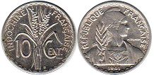coin French Indochina 10 cents 1941