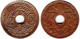 coin French Indochina 1/2 cent 1938
