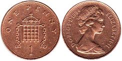 coin Great Britain 1 penny 1984