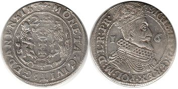 coin Gdansk ort 1624