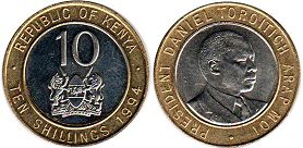 coin Kenya 10 shillings 1994