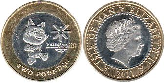 coin Man Isle 2 pounds 2011