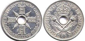 coin New Guinea shilling 1935