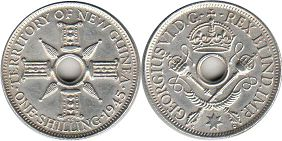 coin New Guinea shilling 1945