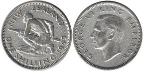 coin New Zealand shilling 1945