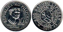 coin Philippines 10 centimos 1977