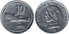 coin Philippines 10 centimos 1990