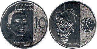 coin Philippines 10 piso 2017