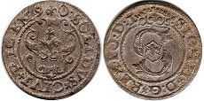 coin Riga solidus 1590