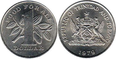 coin Trinidad and Tobago 1 dollar 1979