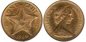 coin Bahamas 1 cent 1969