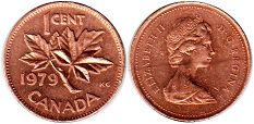 canadian coin 1 cent 1979