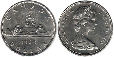 canadian coin 1 dollar 1969