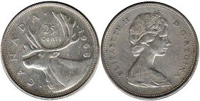 canadian coin 25 cents 1968
