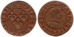 coin Dombes 2 denier 1635