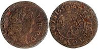 coin Dombes 1 denier 1650
