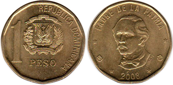 Coin  dominican republic  peso  212  gramos  1959