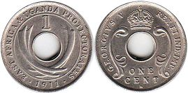 coin EAST AFRICA & UGANDA 1 cent 1911