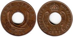 coin BRITISH EAST AFRICA 1 cent 1930