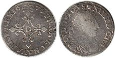 coin France 4 sols 1676
