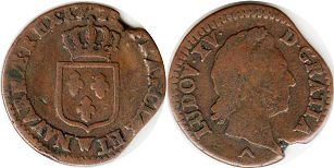 coin France 1/2 sol 1774