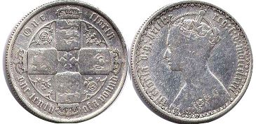 coin UK old coin florin 1872
