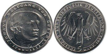 coin Germany 5 mark 1982