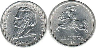 coin Lithuania 5 lit 1936