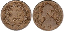 coin Martinique 50 centimes 1929