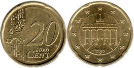coin Germany 20 euro cent 2010
