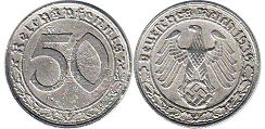 coin Nazi Germany 50 pfennig 1939