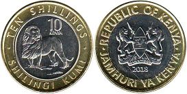 coin Kenya 10 shillings 2018