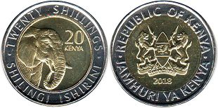 coin Kenya 20 shillings 2018