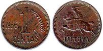 coin Lithuania 1 centas 1936