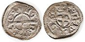 coin Livonia pfennig without date (1472-1483)