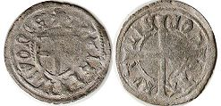 coin Livonia schilling ND (1480-1483)