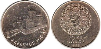 coin Norway 20 kroner 1999