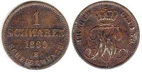 coin Oldenburg 1 schwaren 1869