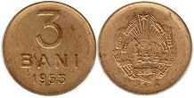 coin Romania 3 bani 1953
