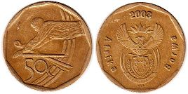 coin South Africa 20 cents 2003 Cricket